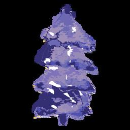 Aquarela de pinheiro