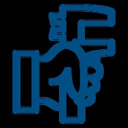 Icono de trazo de llave de tubo llave de tubo