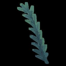 Planta em aquarela de ramo verde