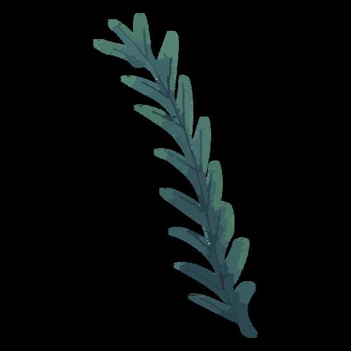 Planta verde rama acuarela