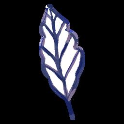 Trazo de acuarela de hoja de planta