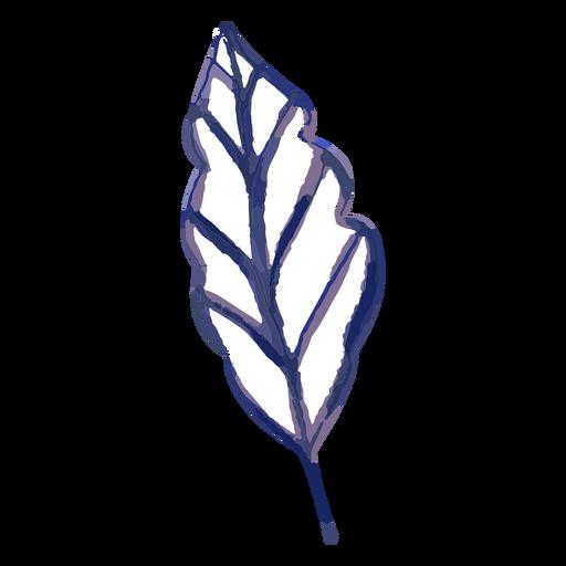 Traço em aquarela de folha de planta