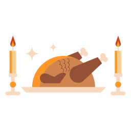 Prepared turkey flat