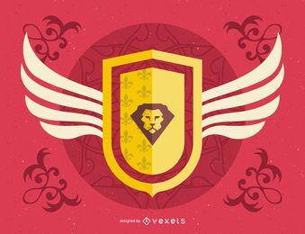 Escudo heráldico ilustración