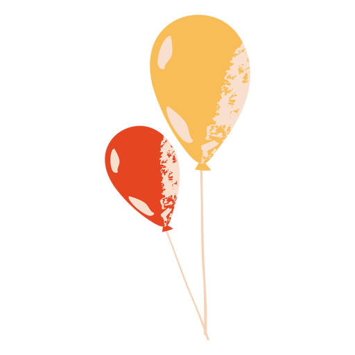 Red and yellow ballons flat