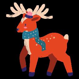 Reno con bufanda ilustración