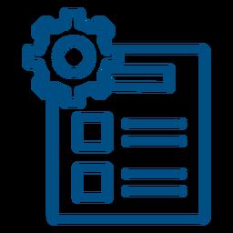Icono de trazo de lista de configuración