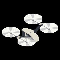 Ilustración de drone volador pequeño