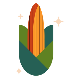 Plano de maíz brillante