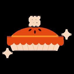 Pastel de calabaza brillante plano