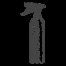 Garrafa de spray desenhada à mão