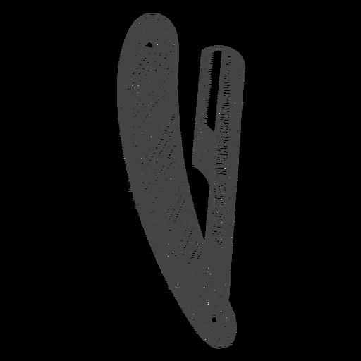 Straight razor hand drawn