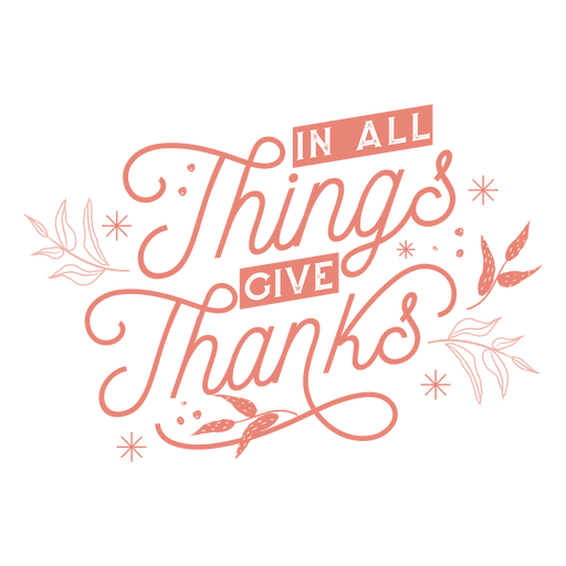 Thankful thanksgiving lettering Transparent PNG