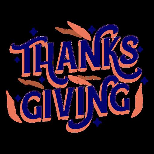 Letras de vacaciones de acción de gracias