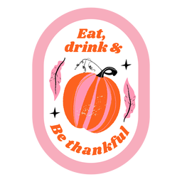 Thanksgiving pumpkin badge