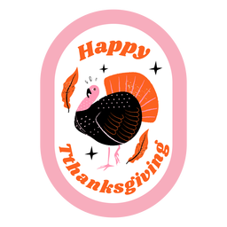 Thanksgiving turkey badge