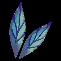 Acuarela de dos hojas