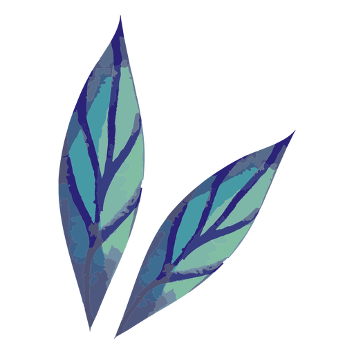 Two leaves watercolor