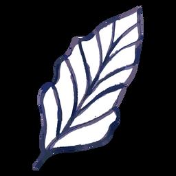 Watercolor leaf stroke