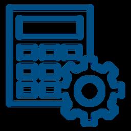 Iconos de trazo de calculadora de trabajo