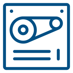 Working machinery stroke icon