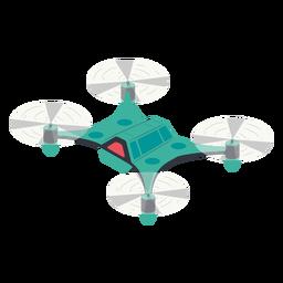 Ilustración de drone volador