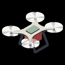 Fliegende Drohne mit Batterieillustration