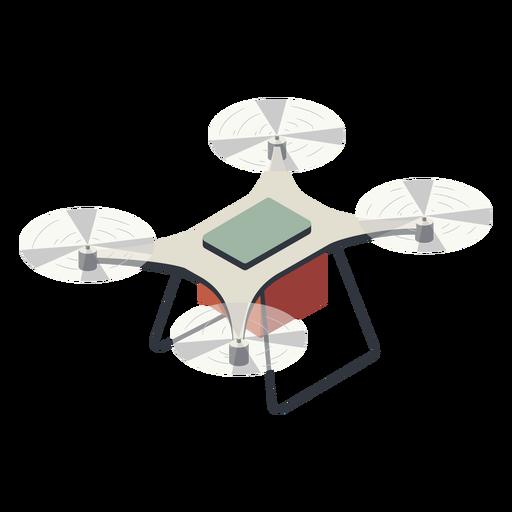 Drone volador con ilustraci?n de bater?a