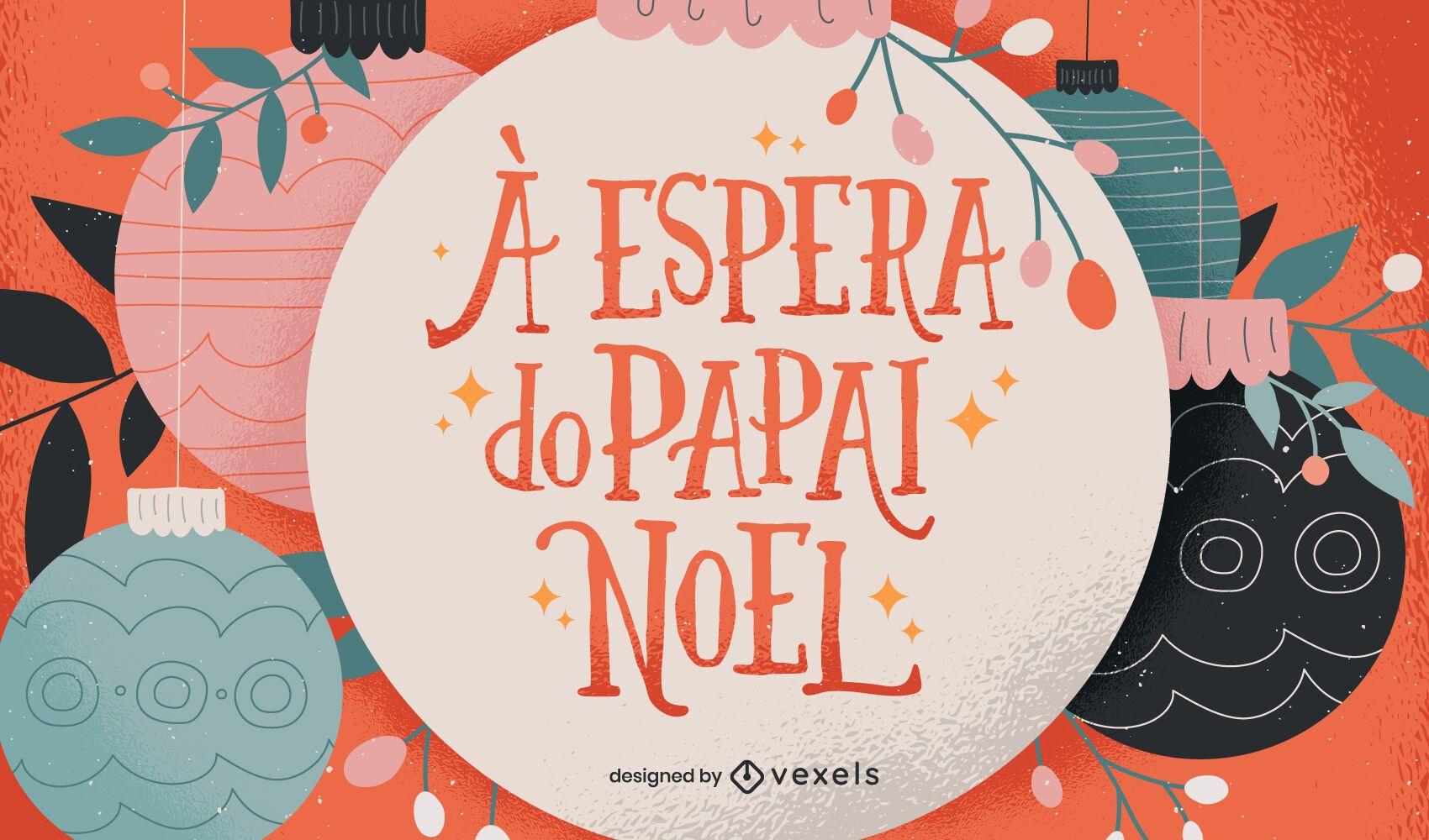 Diseño portugués de letras navideñas