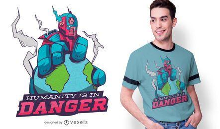 Diseño de camiseta Robot Avenger