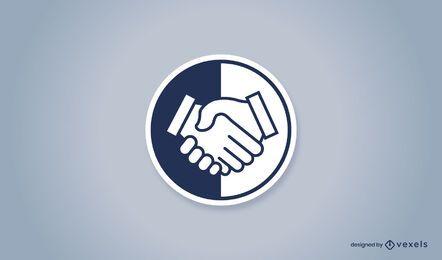 Handshake-Abzeichen-Logo-Design