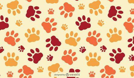 Desenho de padrão de patas de gato