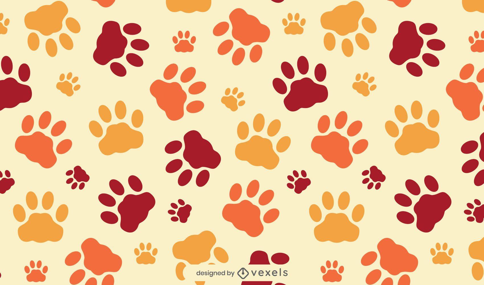 Cat paws pattern design