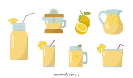 Limonade flaches Set