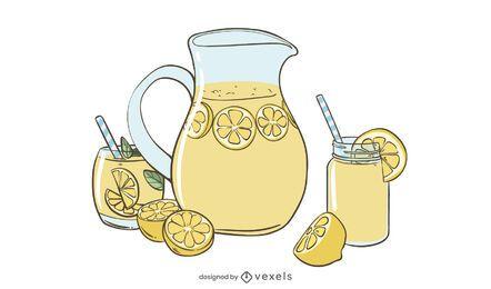 Diseño de ilustración de limonada