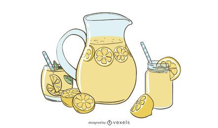 Lemonade illustration design
