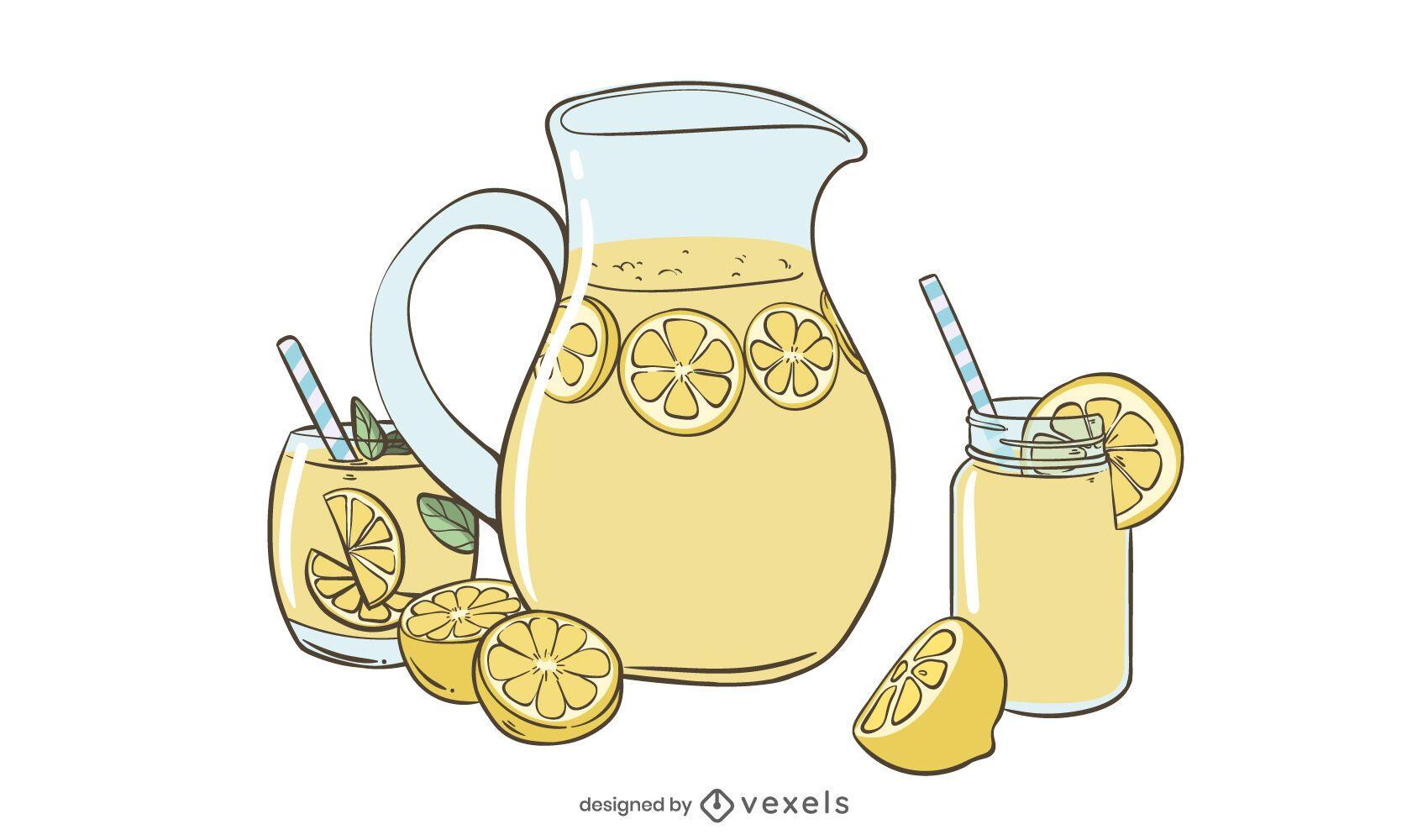 Lemonade illustration design