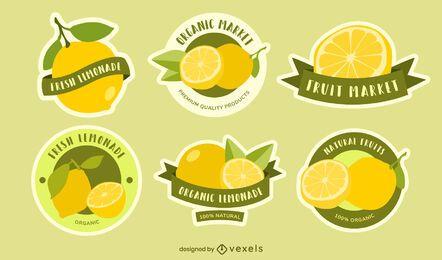 Conjunto de crachá de limão