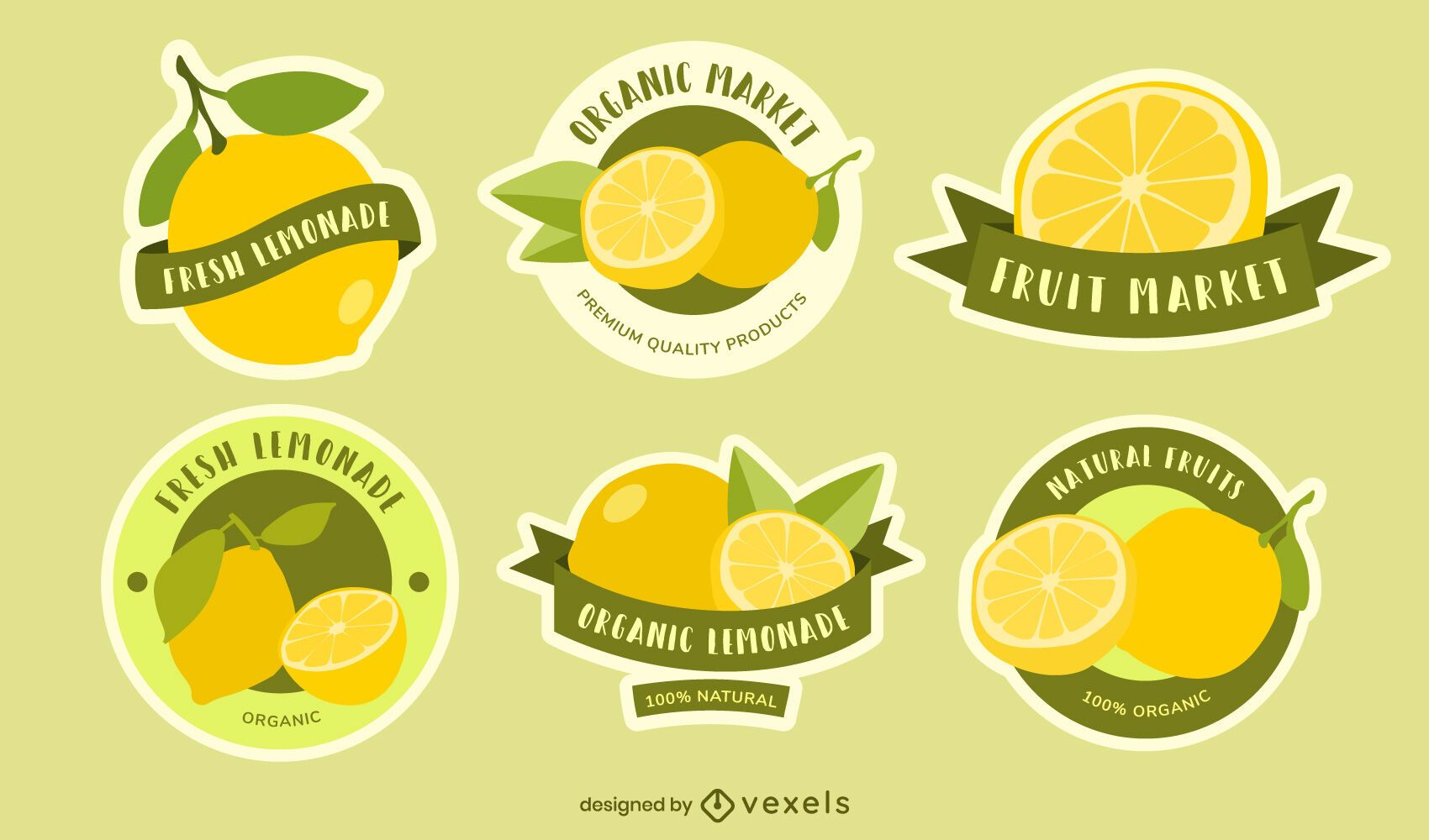 Lemon badge set