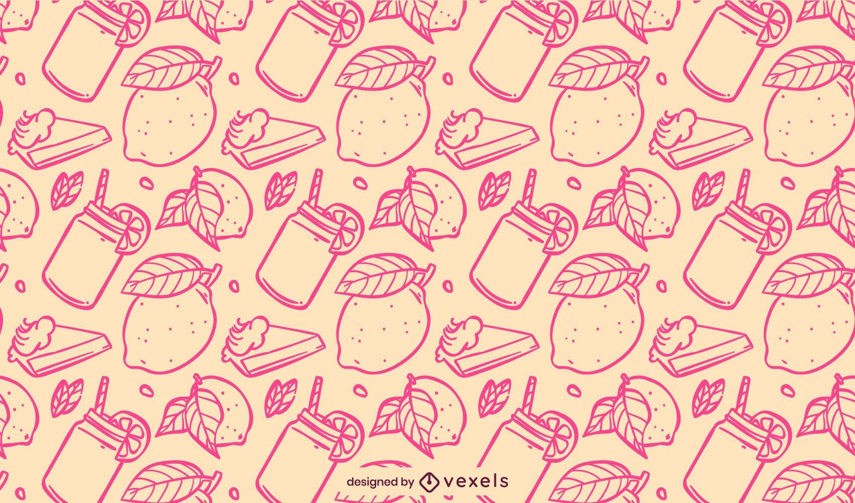 Pink lemon pattern design