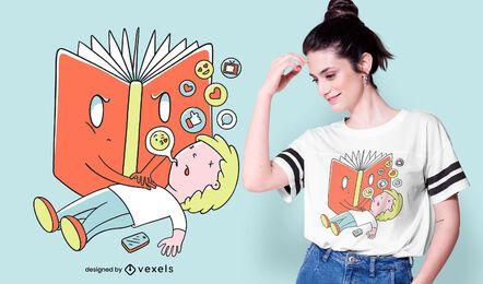 Design de t-shirt CPR de livro