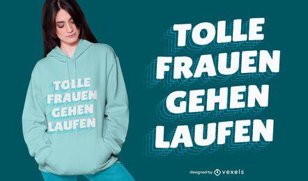 Grandes mulheres executam design de camisetas