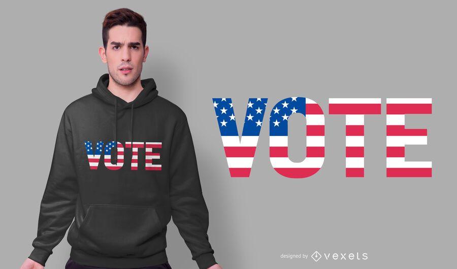 Vote usa t-shirt design