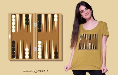 Design de camisetas de tabuleiro de gamão