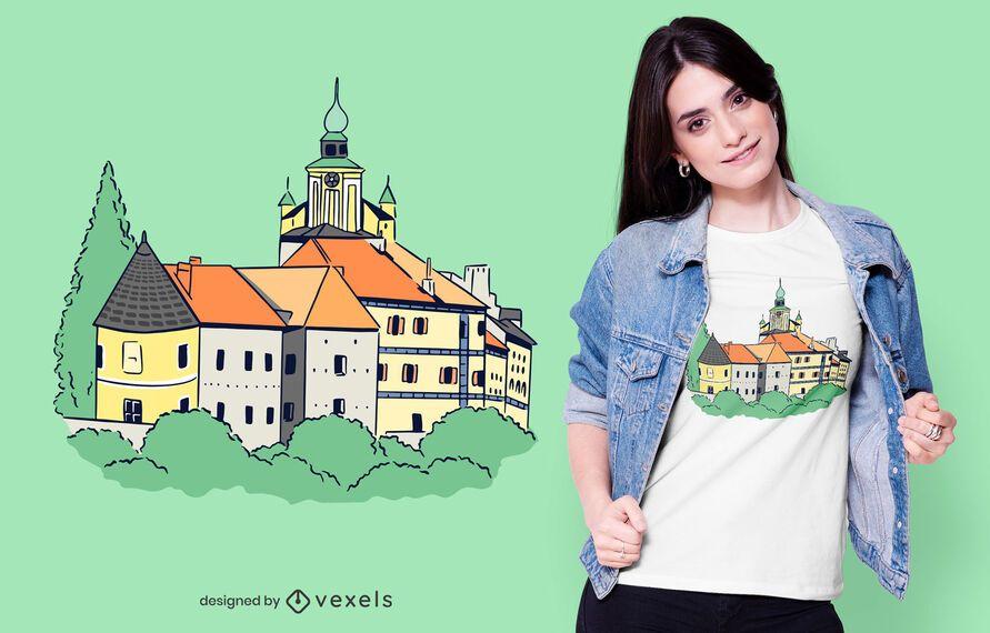 German Castle T-shirt Design