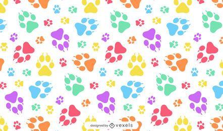 Diseño de patrón de huellas de pata de cachorro