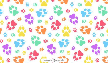 Puppy paw prints pattern design