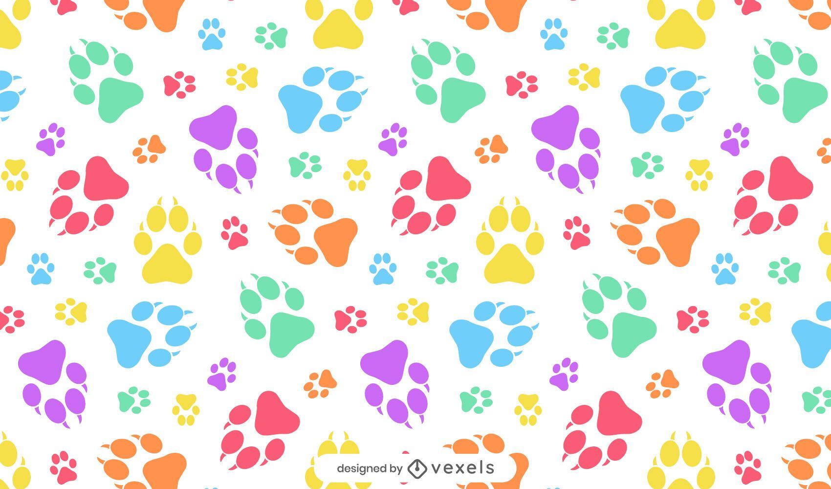 Desenho de estampas de pata de cachorro