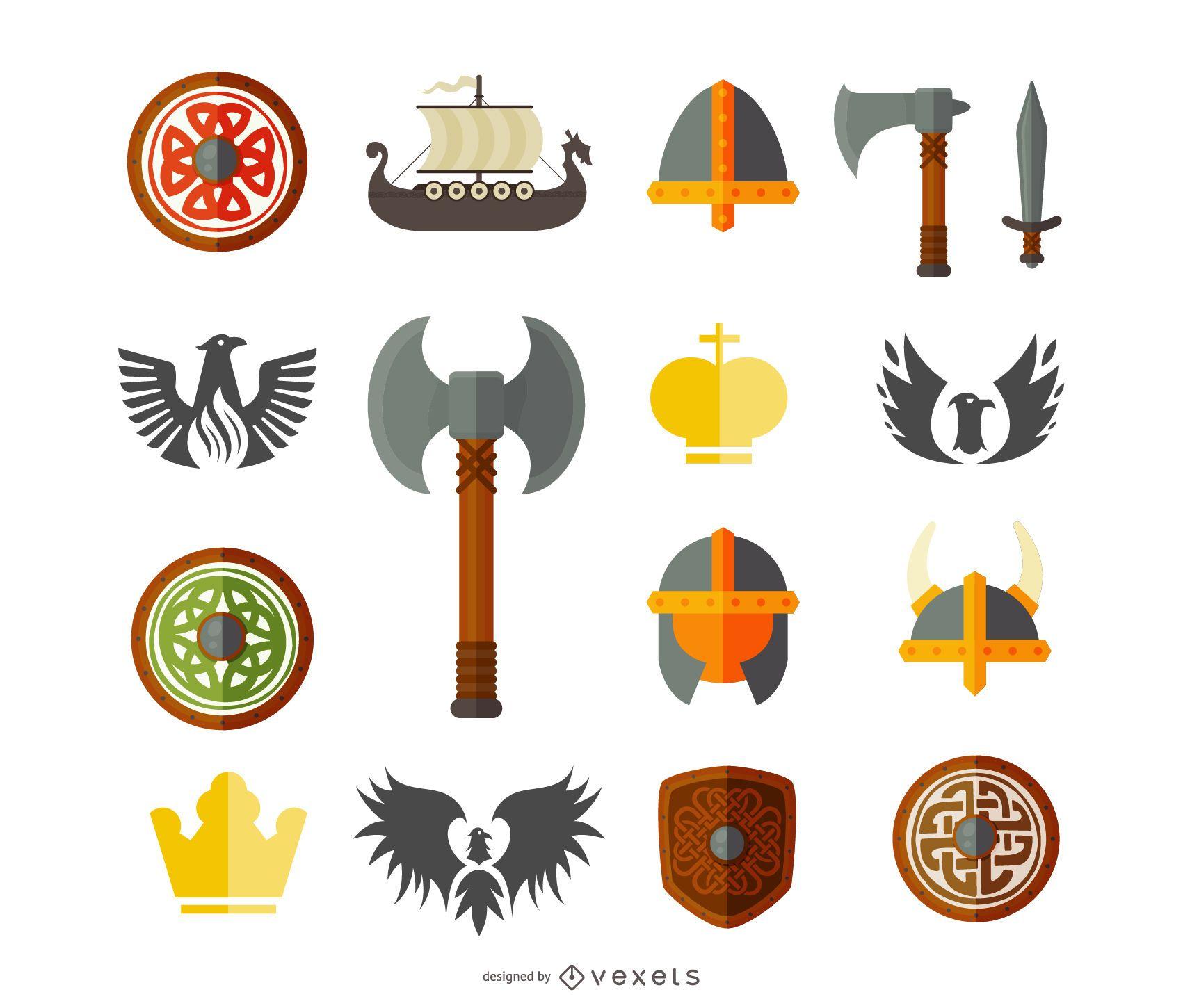 Paquete de elementos medievales