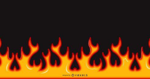 Llama de fuego ardiente brillante